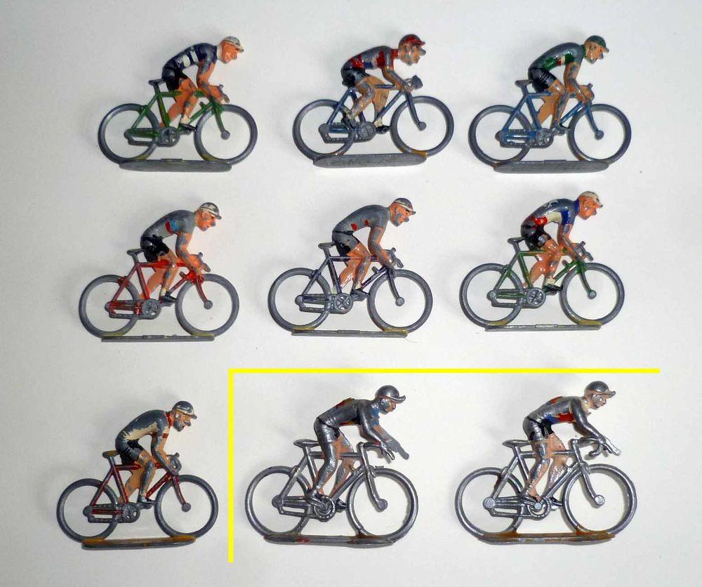 Anciennes figurines métal : COUREURS CYCLISTES  0 Tours (37)