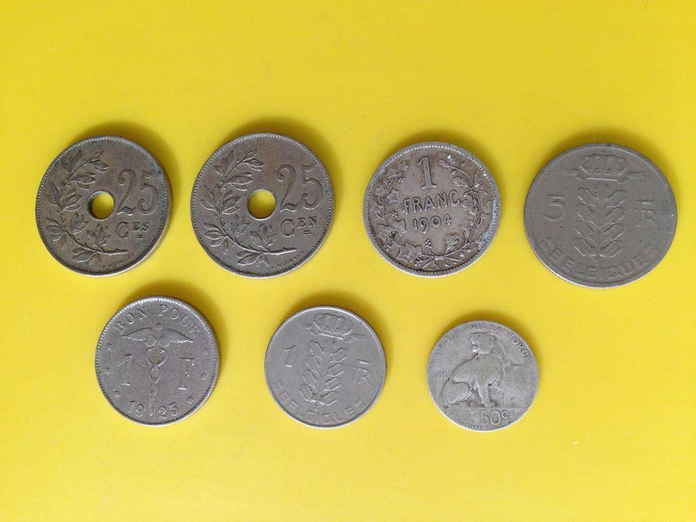 1 lot d'anciennes pièces de monnaie de Francs Belge.. 15 Saint-Vallier (71)