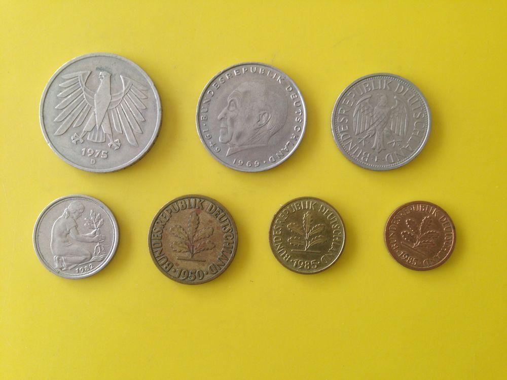 1 lot d'anciennes pièces de monnaie Allemande.. 27 Saint-Vallier (71)