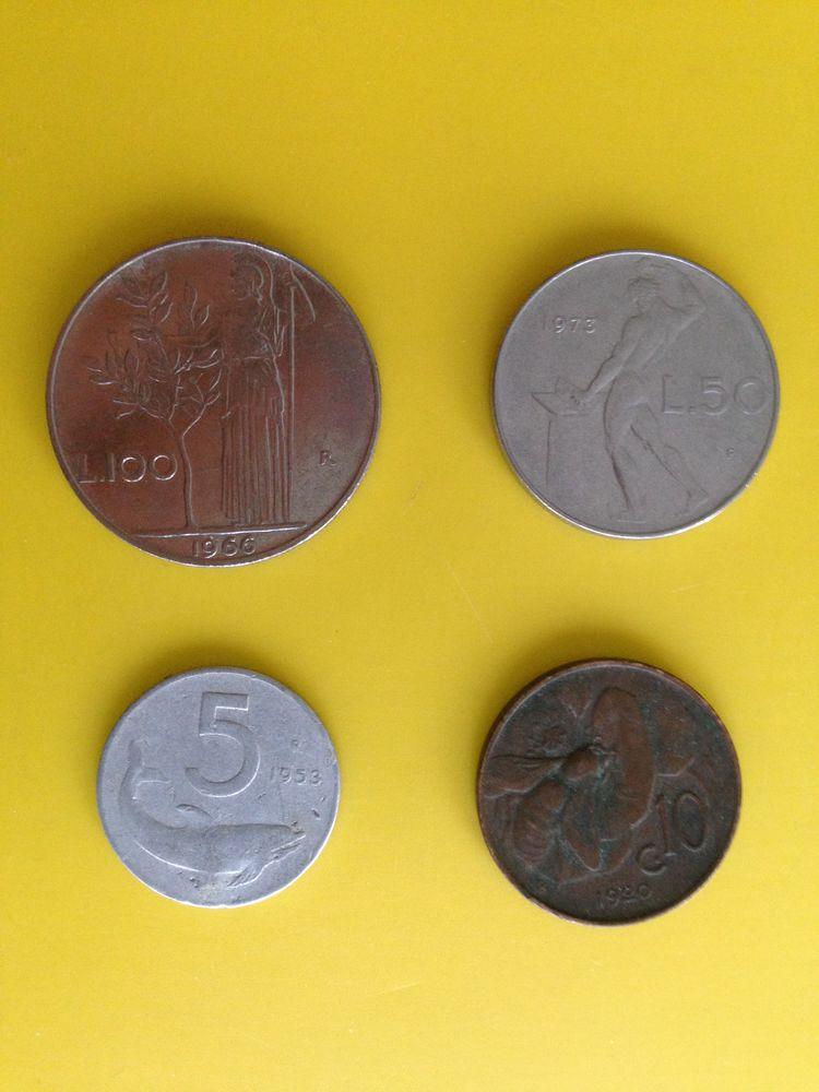 1 lot d'anciennes pièces de monnaie Italienne..  20 Saint-Vallier (71)