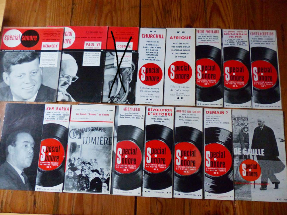 Lot 15 anciens magazines+disques  Spécial sonore  375 Strasbourg (67)