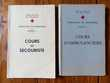 Lot de 2 anciens manuels de secourisme