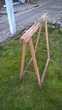 Anciens tréteaux en bois. Bricolage