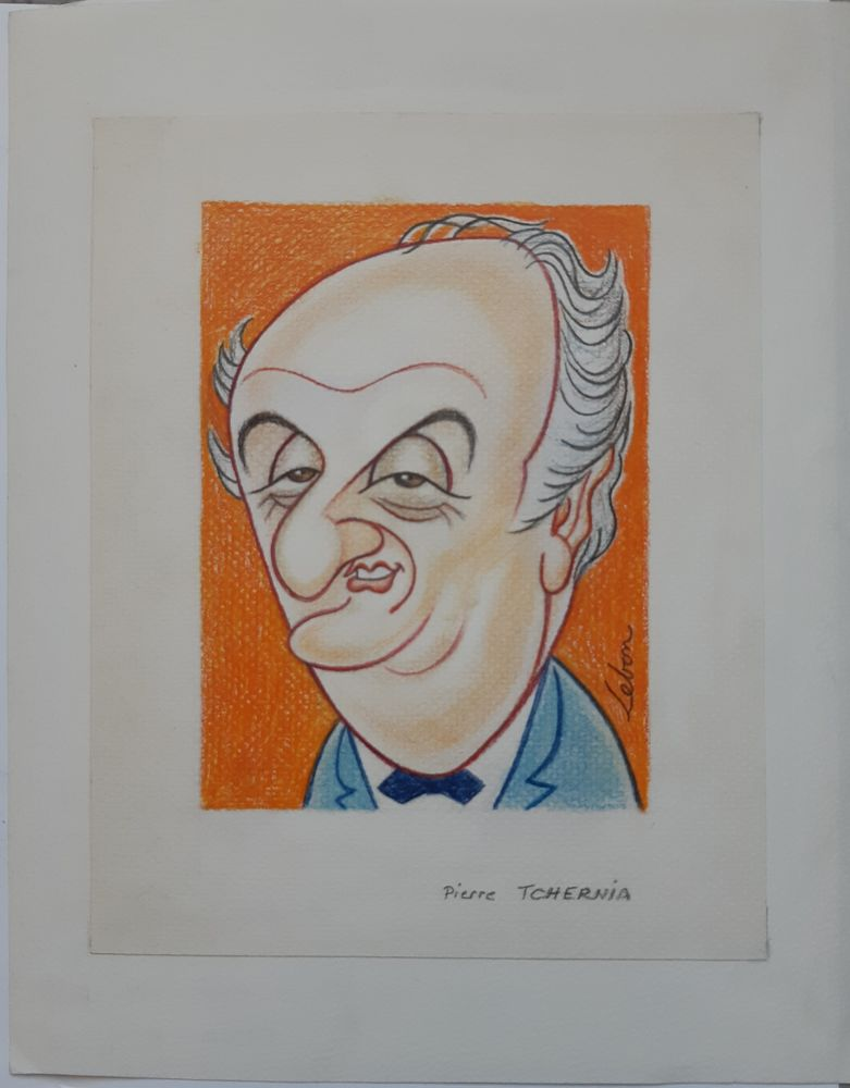 André LEBON - Lot de 8 caricatures d'animateurs TV 200 Asnières-sur-Seine (92)