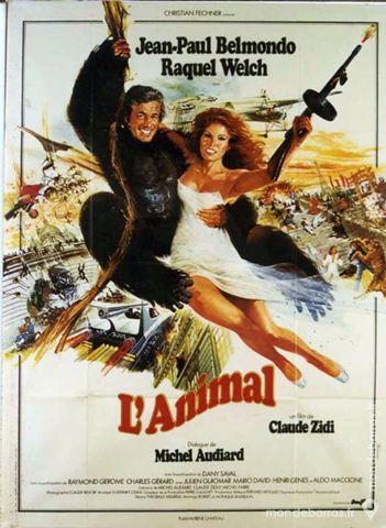 L'ANIMAL JP. BELMONDO Véritable Affiche de Cinéma 39 Maisons-Alfort (94)