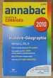 ANNABAC Histoire-Géographie 2010 Séries L, ES, S Sujets et C Occasion Livres et BD