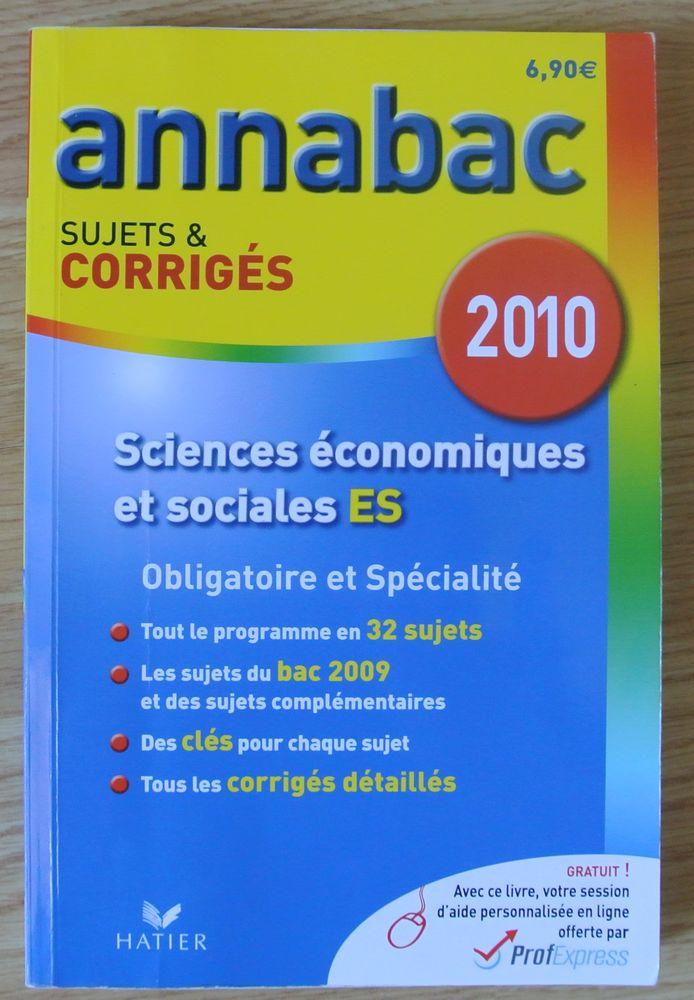 ANNABAC Sciences Economiques et Sociales ES Sujets et Corrig 3 Saâcy-sur-Marne (77)