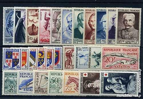 Année complète timbres France 1953 NEUFS** 49 La Seyne-sur-Mer (83)