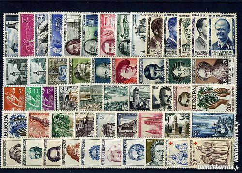 Année complète timbres France 1957 NEUFS** 28 La Seyne-sur-Mer (83)