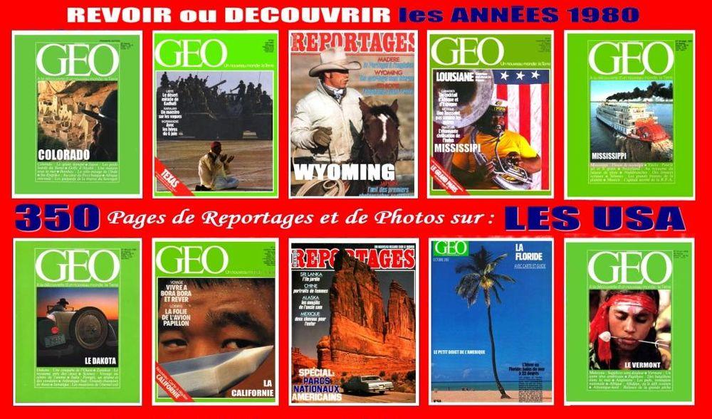les USA - géo -  des ANNÉES 80 / prixportcompris 25 Lille (59)