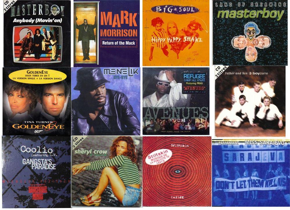 CD années 90 - 19 CD 2 titres et 3 CD compilation 45 Pertuis (84)