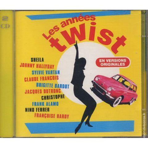 Les Années Twist - 2 CD - Johnny, Sheila, Claude F CD et vinyles