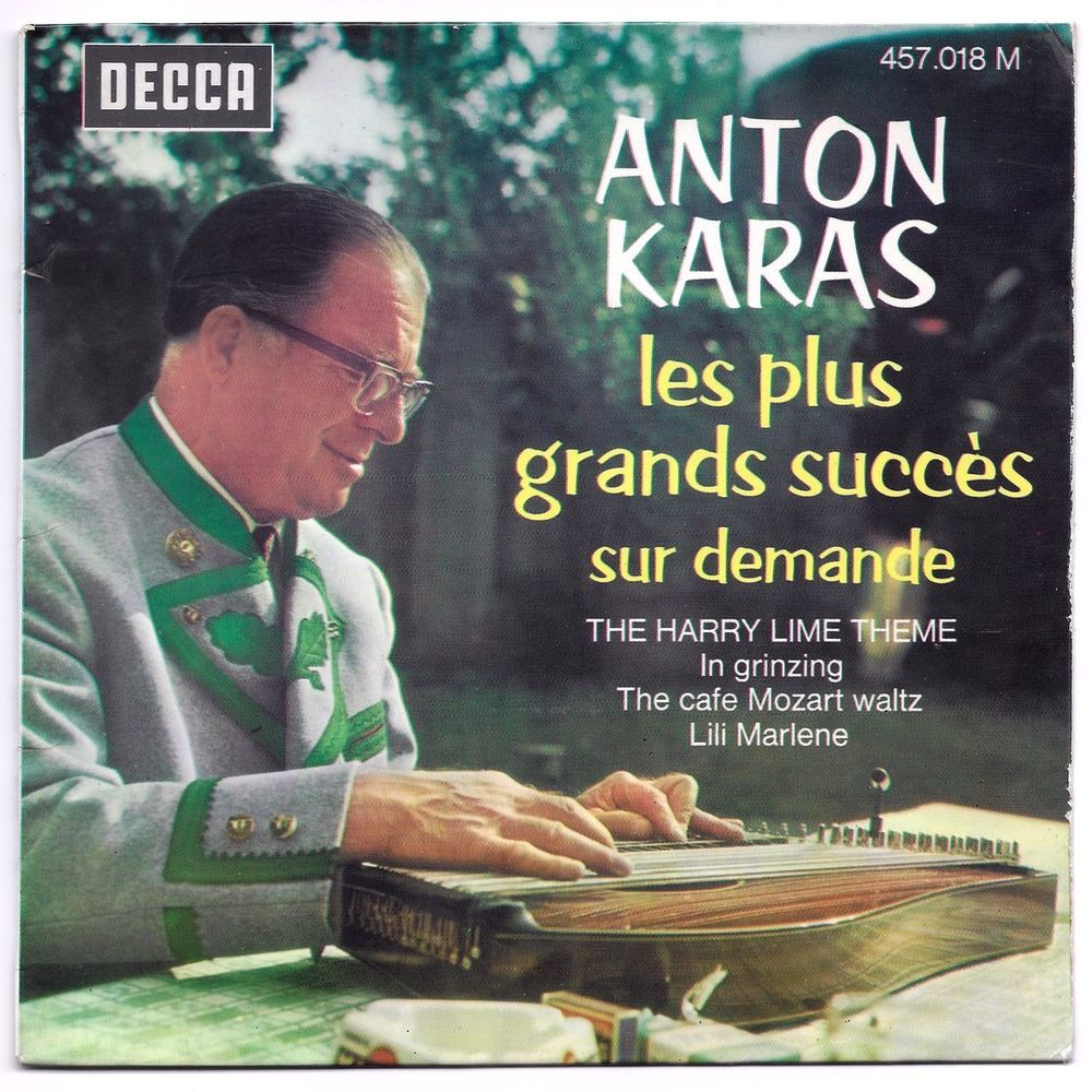 ANTON KARAS -45t EP- THE HARRY LIME THEME (BOF LE 3ème HOMME 3 Tourcoing (59)