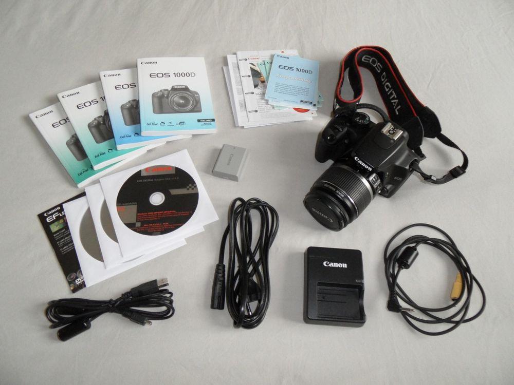 online shop cheapest price how to buy Appareil Canon EOS 1000D en bon état + Accessoires