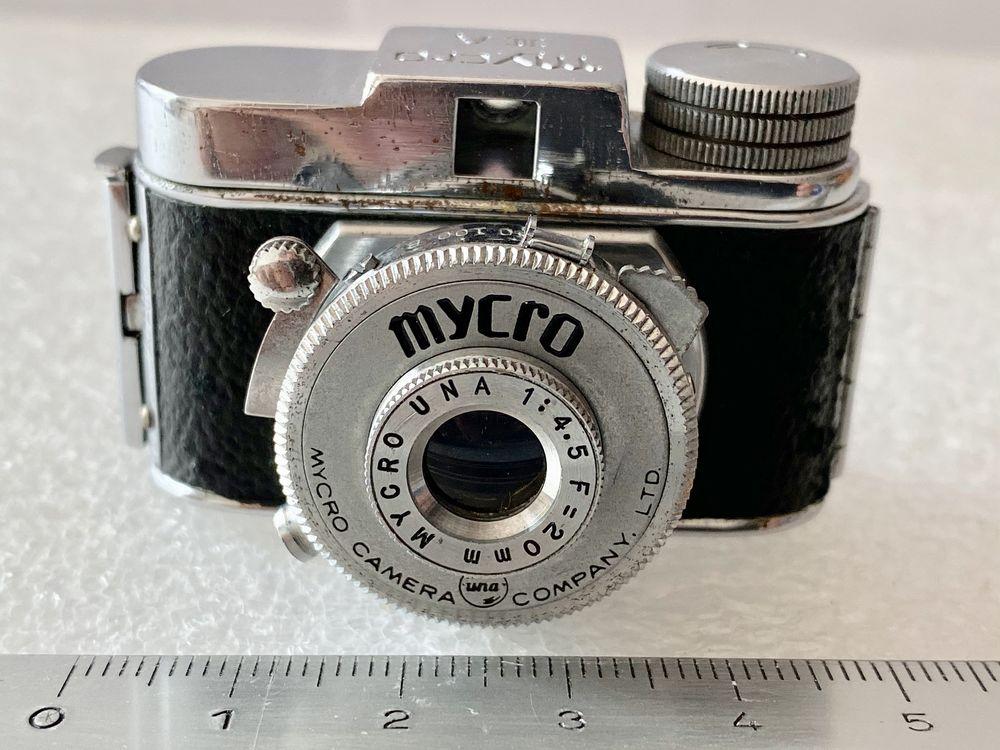 Appareil miniature MYCRO IIIA-Objectif Mycro Una 1:4.5/20mm 78 Joué-lès-Tours (37)