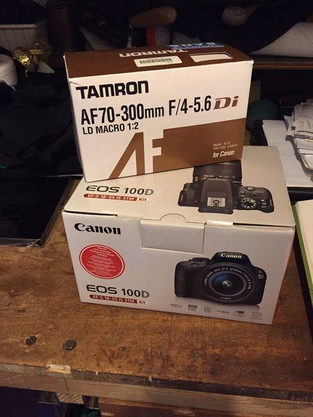 Appareil photo Canon EOS 100d + TAMRON 18-300mm 450 Paris 12 (75)