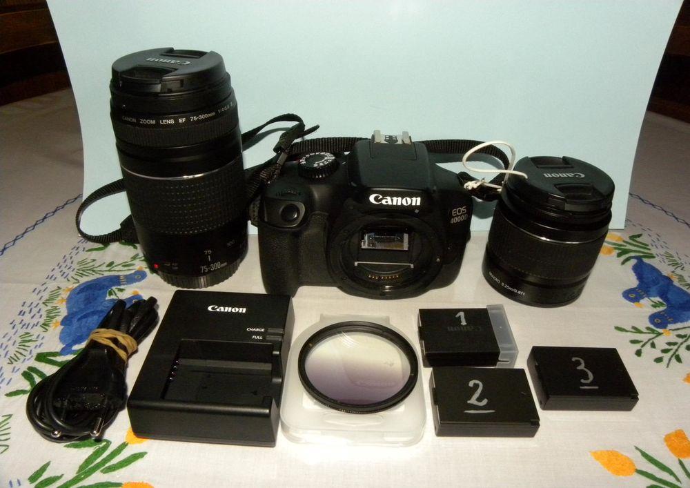 : Appareil photo CANON EOS 4000D + 18-55 + 75-300 340 Étauliers (33)