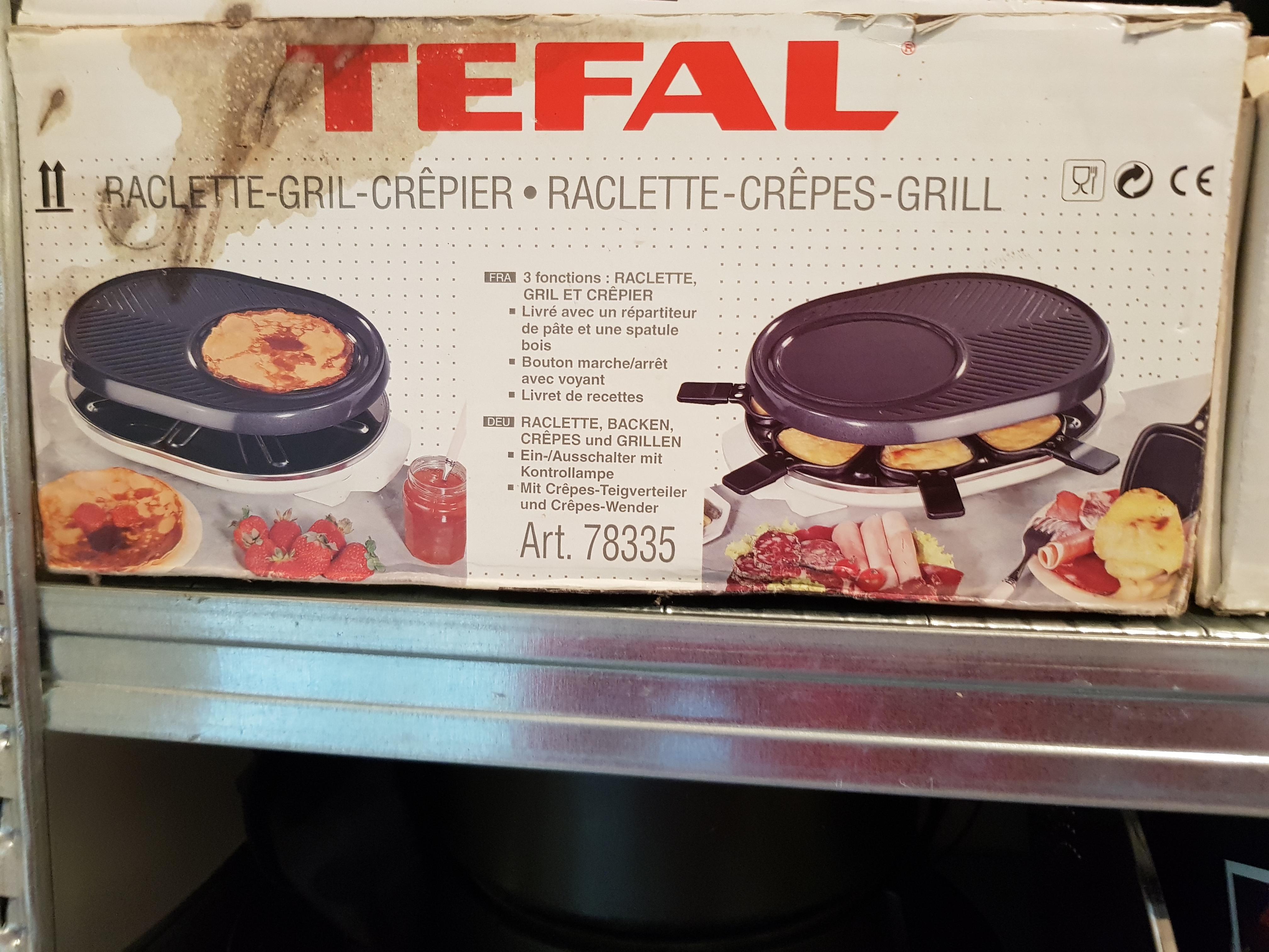 APPAREIL  RACLETTE  TEFAL + CREPE 39 Bonneville (74)