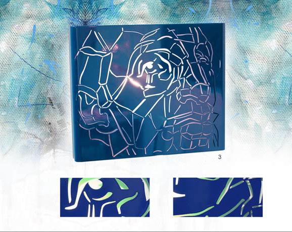 Applique murale bleue de créateur! pièce unique marqueLehoux 0 Vitry-sur-Seine (94)