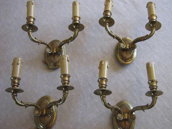 4 Appliques bronze doré style ancien 100 Bourg-de-Thizy (69)