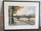 Aquarelle le pont des arts  180 Deauville (14)