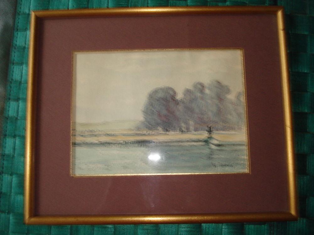Aquarelle signée Georges Dubois