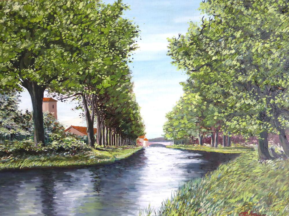 Aquarelles sur chassis toîlé - Canal du midi , Toulouse 25 Rouvroy (62)