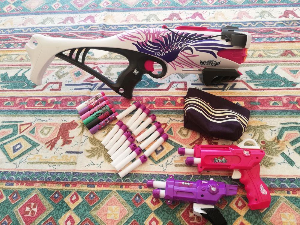 Arbalète nerf rebelle 2 pistolets 26 cartouches Jeux / jouets