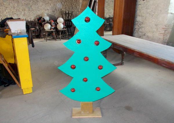 arbre sapin de noël en bois déco maison, magasin 35 Monflanquin (47)