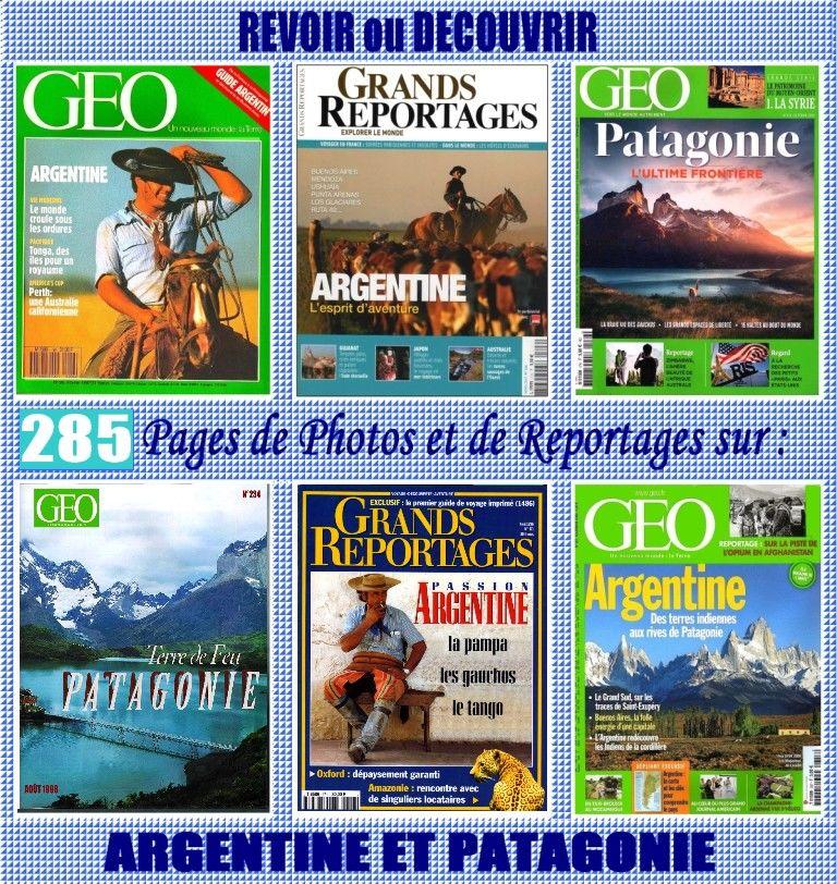 ARGENTINE - géo  -  PATAGONIE / prixportcompris 18 Lyon 5 (69)