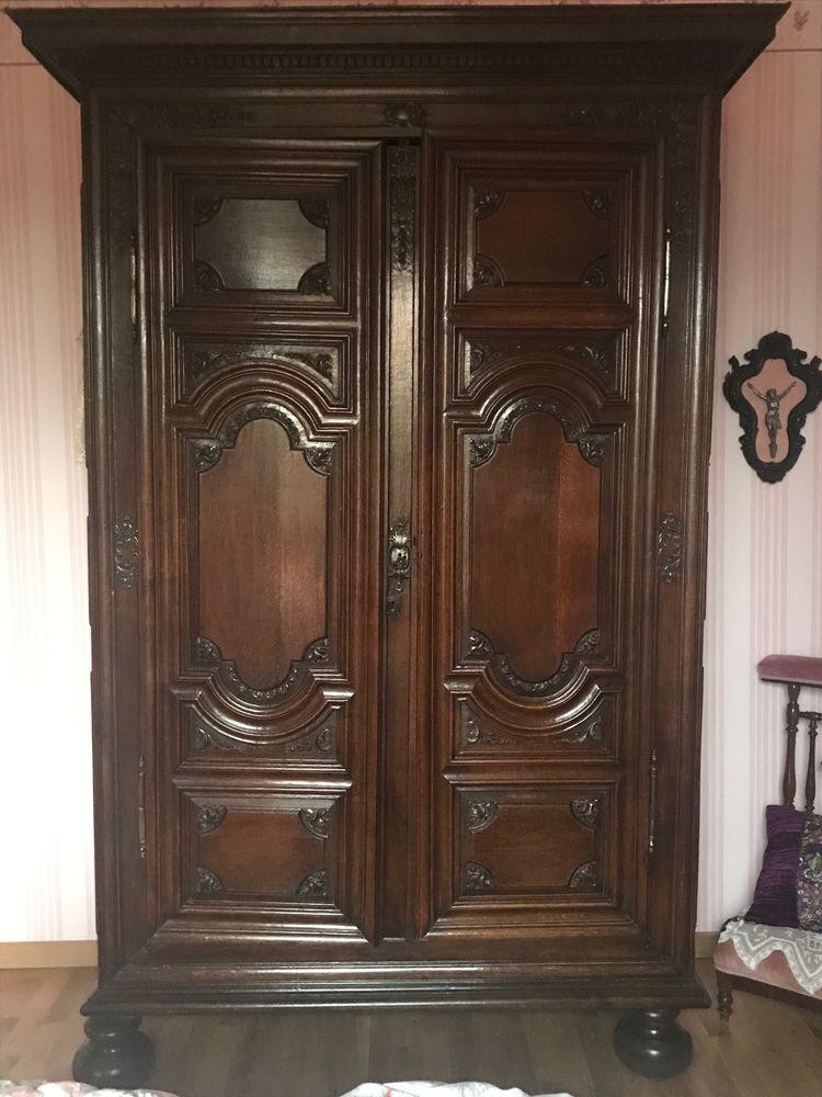 armoire ancienne Louis XIV en chêne massif Meubles