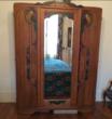 Armoire ancienne 3 portes + miroir
