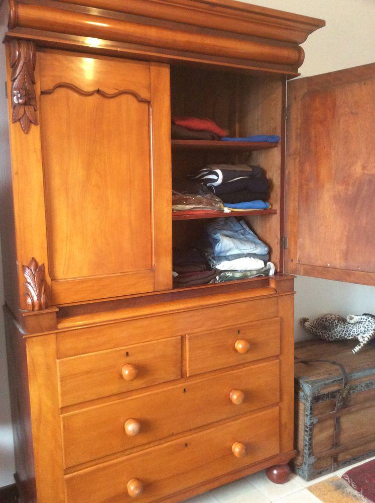 armoire anglaise en pitchpin 850 Toulon (83)
