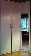 armoire d'angle blanche 140 Meudon La Foret (92)
