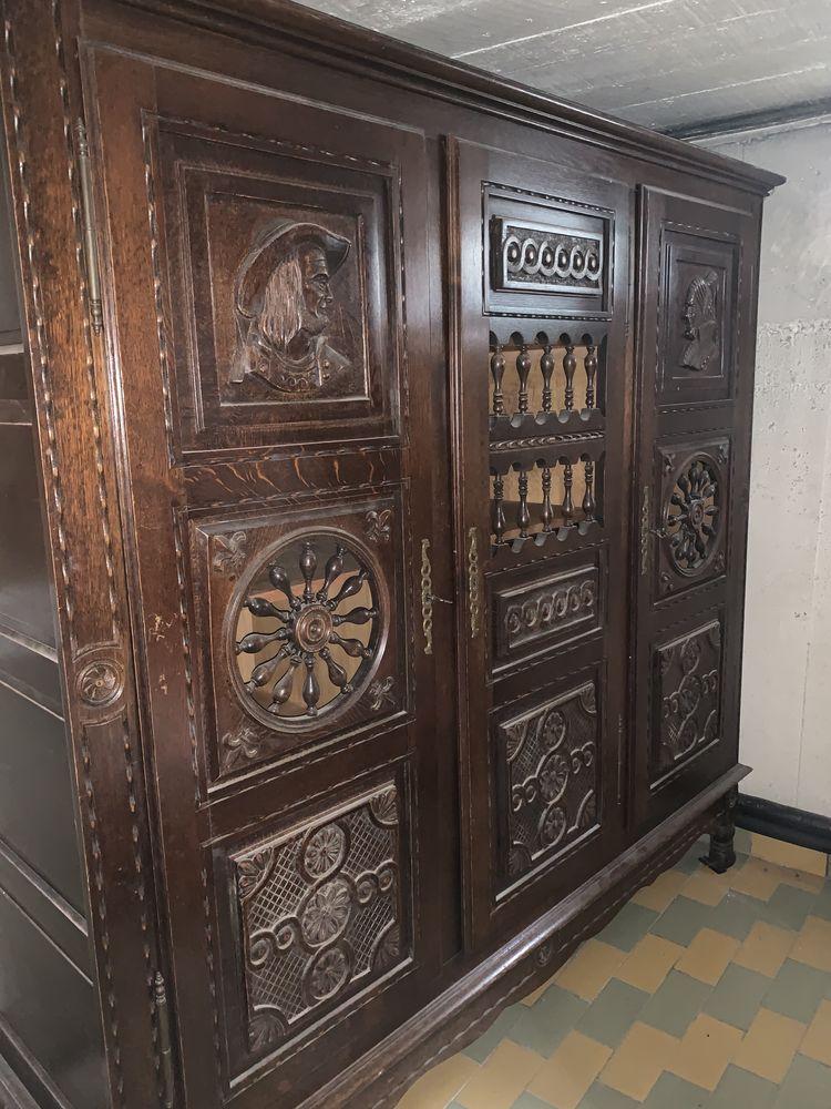 Armoire en bois massif mouluré  - 3 portes 0 Mitry-Mory (77)