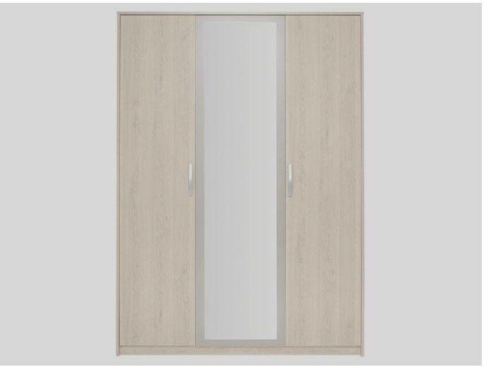 Armoire chambre 3 portes miroir 150 Meudon La Foret (92)