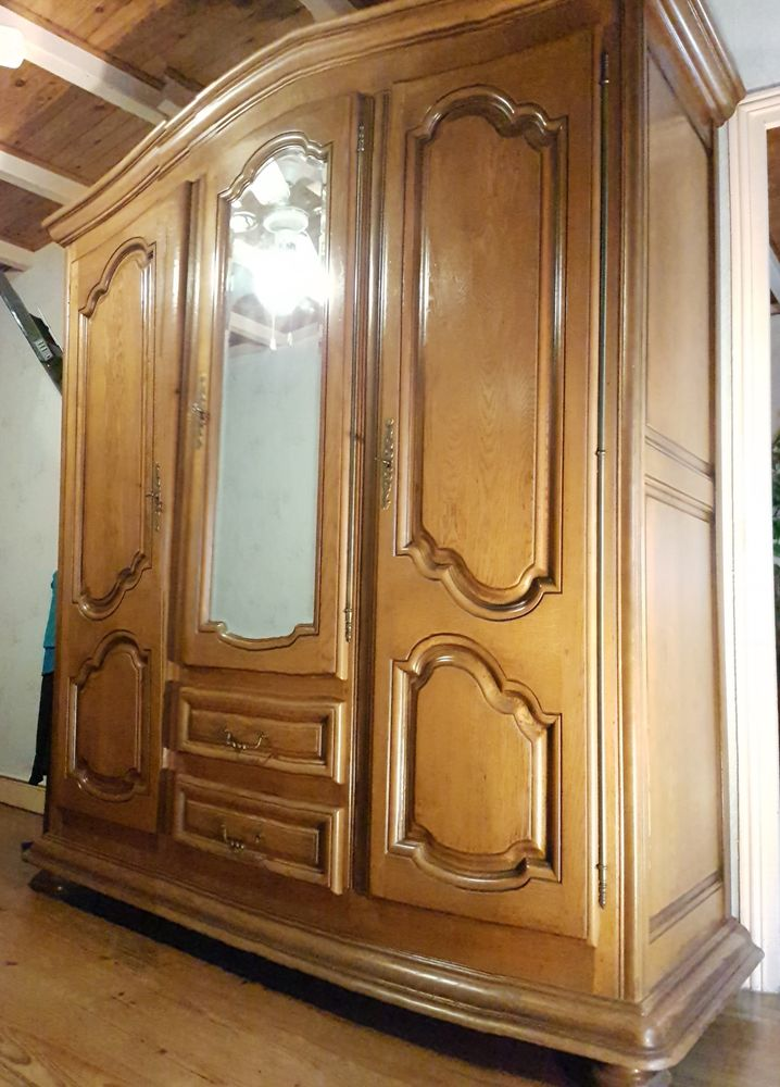 Armoire en chêne massif (étagères/tiroir/penderie) 190 Tugéras-Saint-Maurice (17)