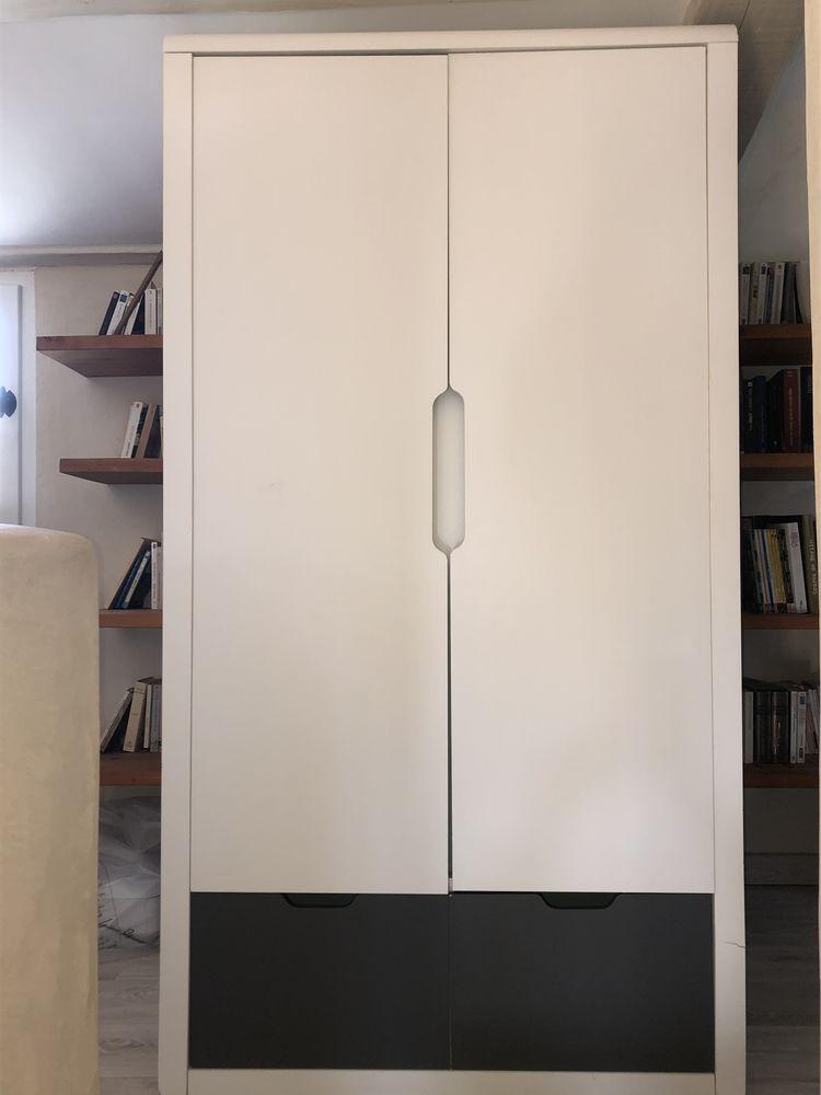 Armoire IKEA Blanc/gris Bon état 70 Villeneuve-lès-Avignon (30)