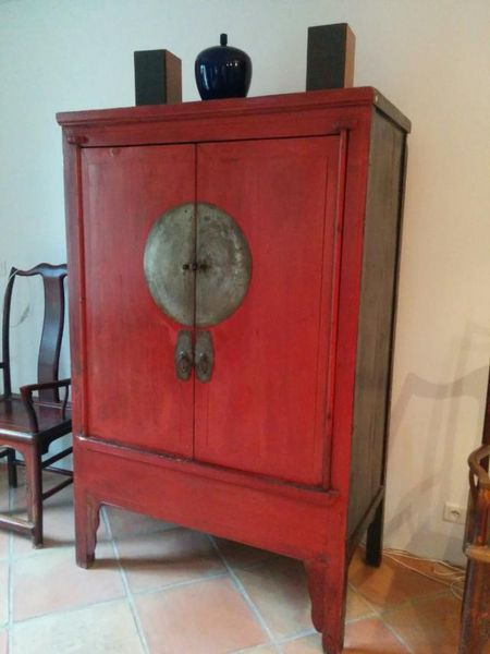 armoire de mariage laqueacutee rouge chinoise meubles - Armoire De Mariage Chinoise