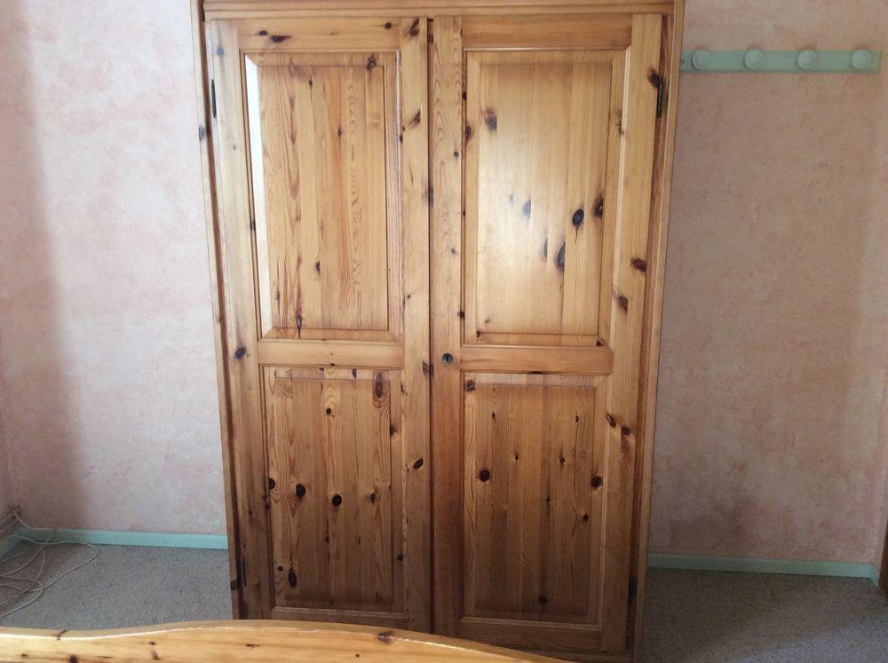 Armoire en pin massif 2 portes 80 La Peyrade (34)