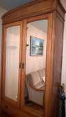 Armoire merisier portes miroirs 180 Le Havre (76)