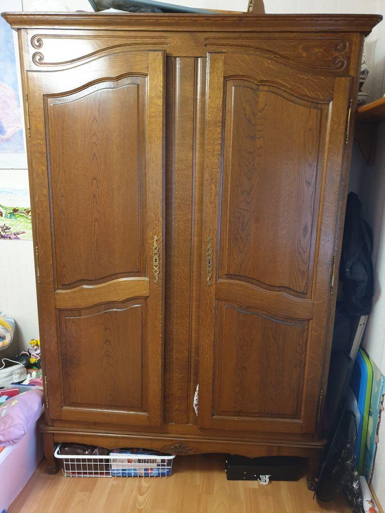 armoire penderie chene massif 150 Comines (59)