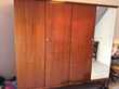 armoire 4 portes marron