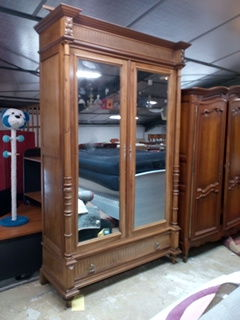 Armoire 2 portes miroir style Henri II 190 Toulouse (31)