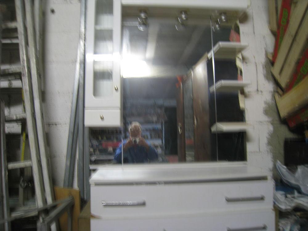 armoire salle de bain en pin avec etageres et armoire laque  0 Lombez (32)