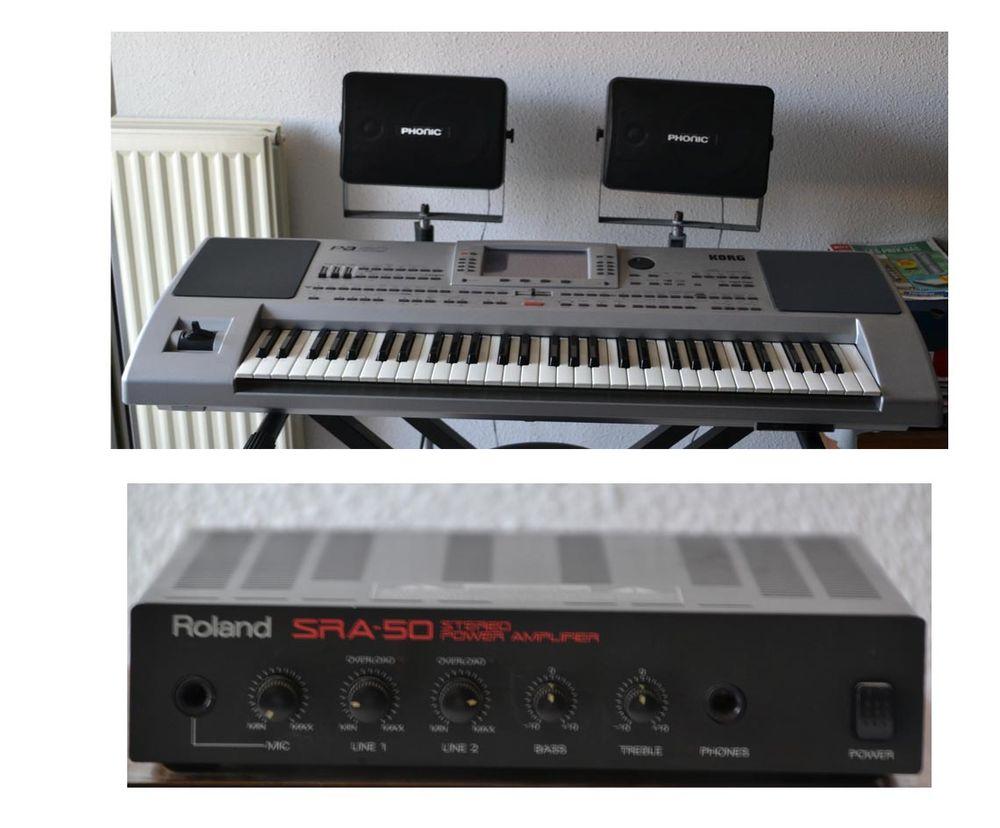 arrangeur clavier KORG PA80+plus ampli+enceintes+valise de t 450 Cagnes-sur-Mer (06)