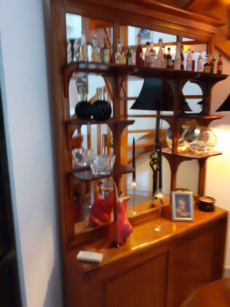 Bar + arrière bar en merisier massif + 2 tabourets hêtre mas 2500 Andernos-les-Bains (33)