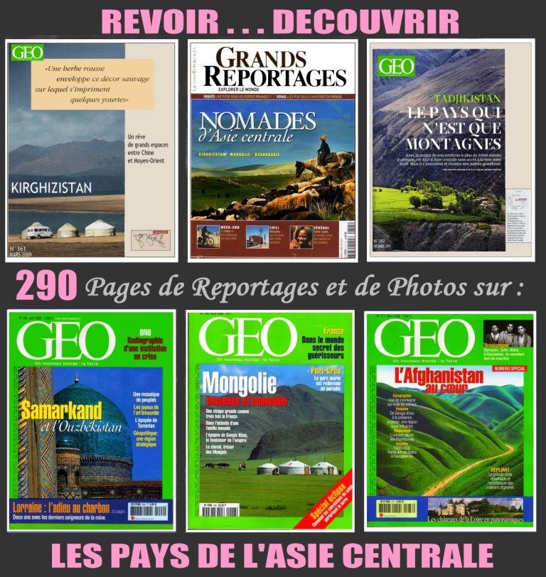 ASIE CENTRALE - géo - NOMADES / prixportcompris 18 Strasbourg (67)