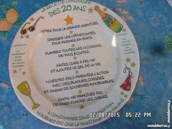 assiette déco 20 ans 2 Chambly (60)
