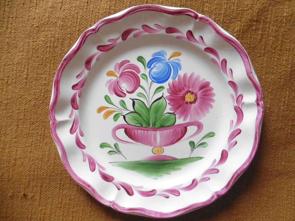 Assiette décor fleurs 7 Dieppe (76)